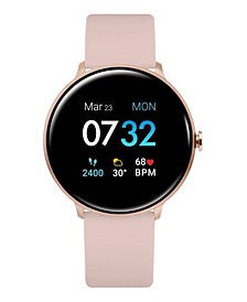 Women's Sport's Rose Gold and Blush Silicone Strap Smart Watch 43.2mm