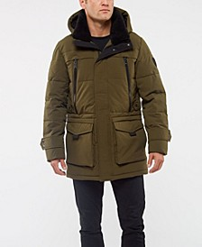 Men's Faux Down Parka Jacket