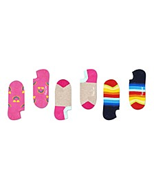 Women's 3-Pack Happy Rainbow Liner Sock