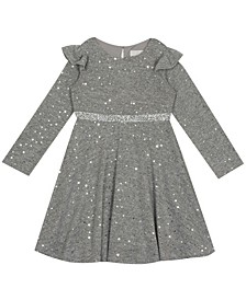 Toddler Girl Foil Hacci Skater Dress