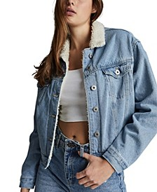 Women's 90s Sherpa Denim Jacket
