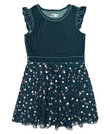 Little Girls Flutter Sleeveless Party Dress