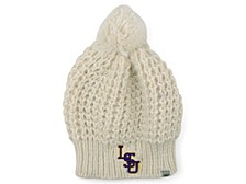 LSU Tigers Women's Fur Pom Knit