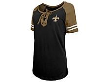 New Orleans Saints Women's Logo Lace Up T-Shirt