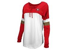 San Francisco 49ers Women's Lace Up Long Sleeve T-Shirt