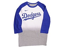 Youth Los Angeles Dodgers 3/4-Sleeve Raglan T-Shirt