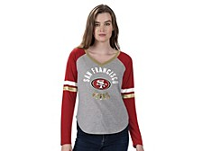 Women's San Francisco 49ers Asterisk Long-Sleeve T-Shirt