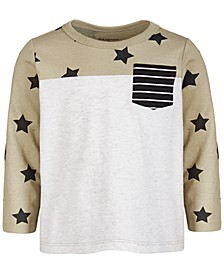 Baby Boys Star Pocket Cotton T-Shirt, Created for Macy's