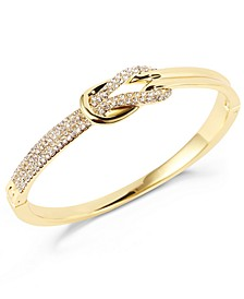 Gold-Tone Pavé Knot Box Bracelet, Created for Macy's