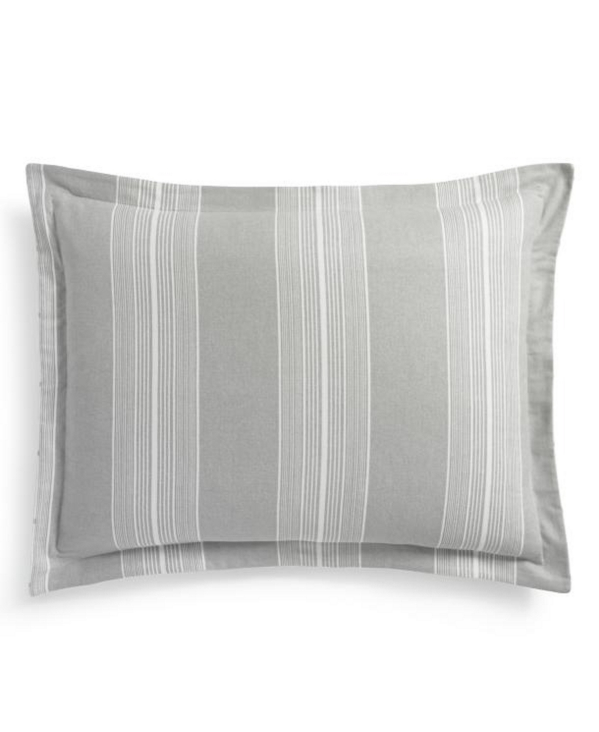 Martha Stewart Collection Modern Stripe Flannel Standard Sham, Created for Macys
