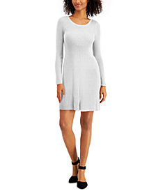 Style & Co Plus Size Ribbed Knit Sweater Dress, Created for Macy's