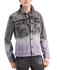 Men's Regular-Fit Ombré Denim Jacket, Created for Macy's