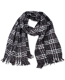 Tweedy Foil Plaid Wrap Scarf