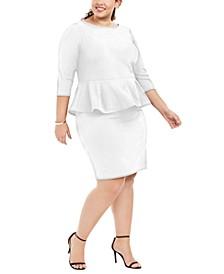 Plus Size Peplum Sheath Dress