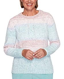 Petite St. Moritz Chenille Biadere Sweater