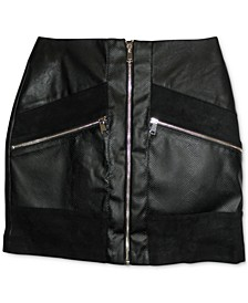 Faux Leather Mini Skirt, Created for Macy's
