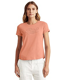 Eyelet Lace Logo Top