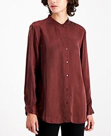 Mandarin-Collar Blouse