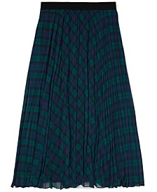 Women's Icon Tartan Pleated Midi Skirt with Pull-Up Loops