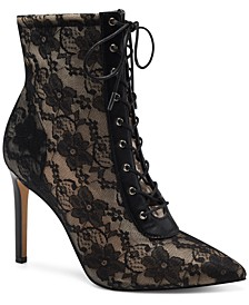 INC Women's Indira Lace-Up Booties, Created for Macy's