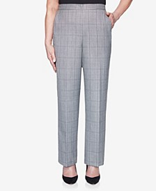 Women's Madison Avenue Plaid Proportioned Medium Pant