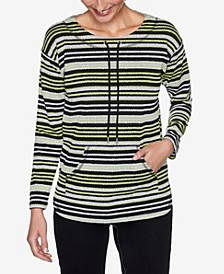 Plus Sizes Women's Pebbled Stripe Pullover