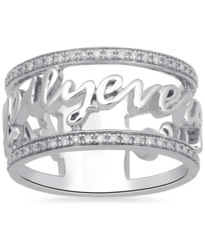 Diamond Happily Every After Princess Ring (1/5 ct. t.w.) in Sterling Silver