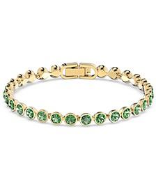 Gold-Tone Crystal Bezel Tennis Bracelet