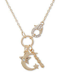 """GUESS Crystal Dream Multi-Charm 18"""" Pendant Necklace"""