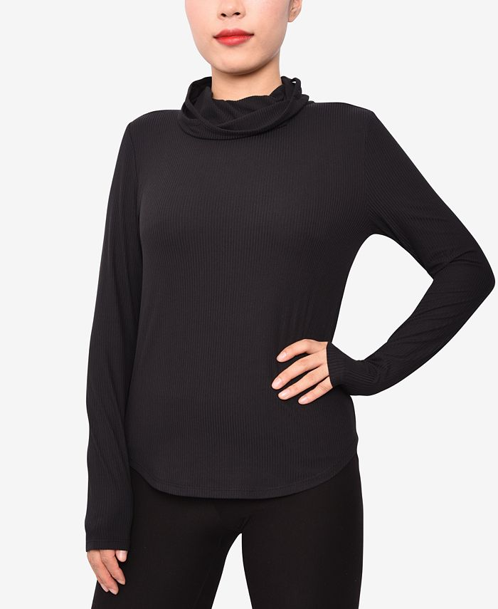 Derek Heart - Juniors' Ribbed Long-Sleeve Mask Top
