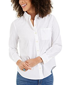 Relaxed-Fit Button-Front Shirt, Created for Macy's