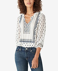 Ruffled Peasant Top