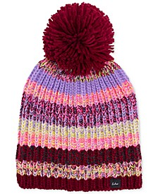Crazy Marled-Knit Pom Pom Hat