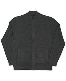 Men's Tonal Ottoman Textured Cardigan, Created for Macy's