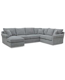 """Zaniel 138"""" 3PC Fabric Sectional with Chaise, Created for Macy's"""