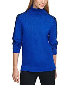 DKNY Turtleneck Logo Sweater