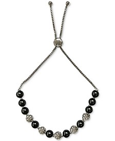 Pavé Fireball & Colored Imitation Pearl Slider Bracelet, Created for Macy's