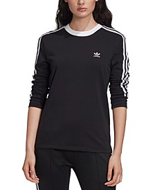 Women's 3-Stripe Long-Sleeve T-Shirt