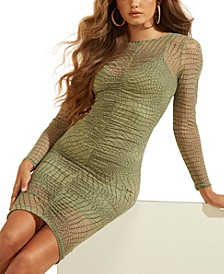 Lauren Ruched Printed Bodycon Dress