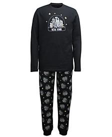 Matching Men's NYC Snow Globe Family Pajama Set, Created for Macy's