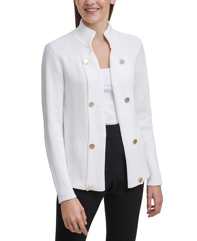 Calvin Klein Cotton Embellished Cardigan