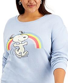 Trendy Plus Size Snoopy Rainbow Sweatshirt