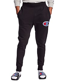 Men's Loose-Fit Chenille Logo Appliqué Jogger Pants