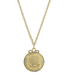 Women's Gold Tone September Flower of the Month Aster Necklace