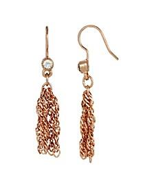 Women's Rose Gold Tone Tassel Earring