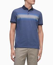 Men's Liquid Touch Gradient Stripe Polo Shirt
