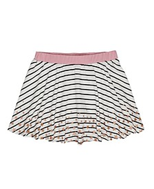 Little Girls Stripe with Border Print Scooter Skirt