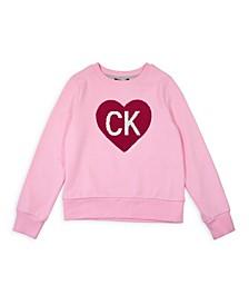 Big Girls CK Heart Flip Sequin Sweatshirt