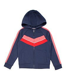 Big Girl Fleece Chevron Pieced Hoodie