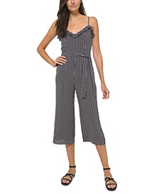 Striped Ruffled Jumpsuit